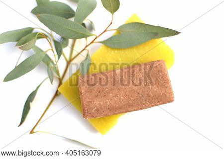 Natural Handmade Soap From Organic Medicinal Plants. Organic Soap With Eucalyptus Essential Oils. St