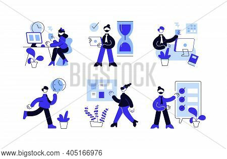 Collection Of People Successfully Organizing Their Tasks