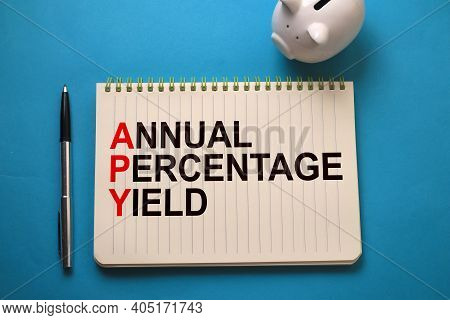 Annual Percentage Yield, Text Words Typography Written On Book, Life And Business Motivational Inspi