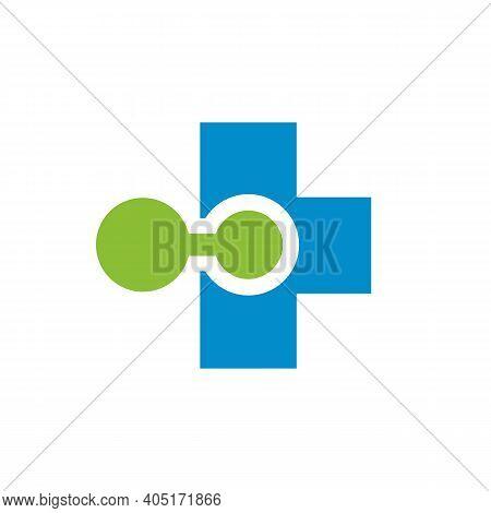 Medical Hub Logo Icon Design, Digital Hospital Symbol, Online Medical Clinic Illustration