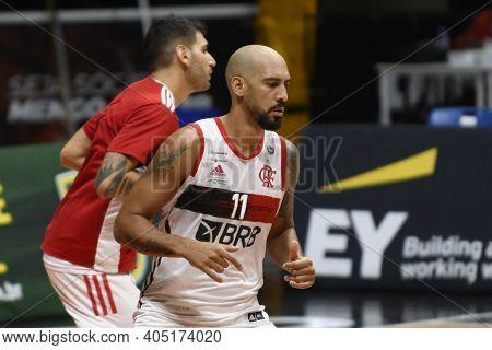 Rio, Brazil - January 26, 2021  Marquinhos Of Flamengo During The Men's New Brazilian Basketball (nb