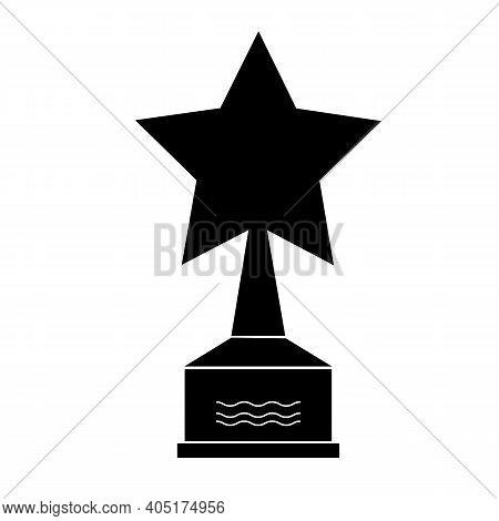 Star Award Icon On White Background. Flat Style. Movie Medal Sign. Award Symbol. Black Star Award Si