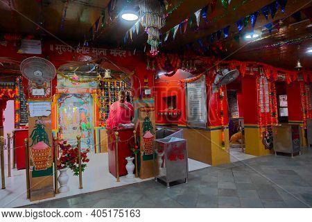 Jaisalmer, Rajasthan, India - 15th October 2019 : Devotees Worshipping At Tanot Mata Mandir At India