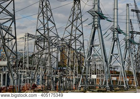electrical substation and a high voltage electric line
