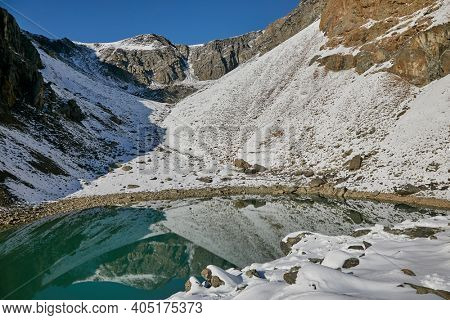 Lake in the high mountains