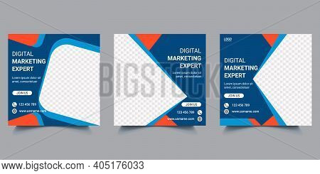 Digital Marketing Agency Business Web Banner Template Design. Social Marketing Company Square Banner