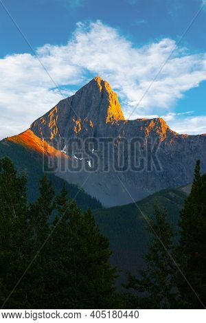 Sunset Over The Wedge, A Mountain Peak Named For Its Similarity To A Carpenter's Wedge. Located At M