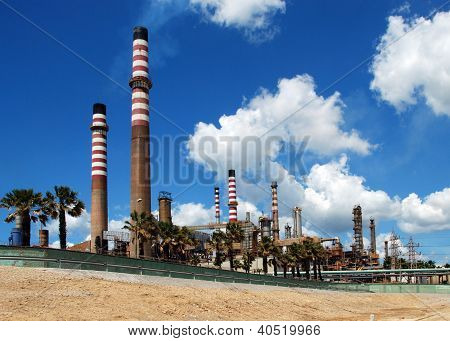 Petro-chemical refinery, Andalusia, Spain.