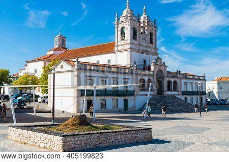 Nazare, Portugal - October 05, 2018: The 17th-century, Baroque Igreja De Nossa Senhora Da Nazare In
