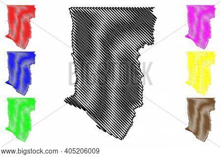 Taos County, New Mexico (u.s. County, United States Of America, Usa, U.s., Us) Map Vector Illustrati