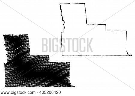 Broome County, New York State (u.s. County, United States Of America, Usa, U.s., Us) Map Vector Illu
