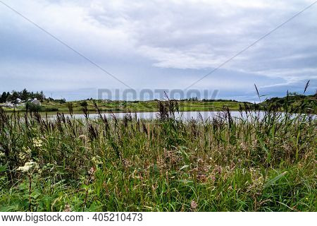 View Of The Beautiful Lake Namanlagh Close To Bonny Glen In County Donegal - Ireland.