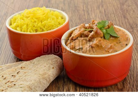 Butter Chicken & Lemon Rice
