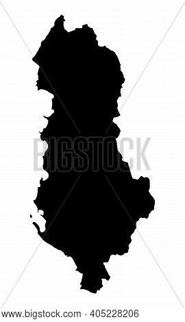 Albania Silhouette Map