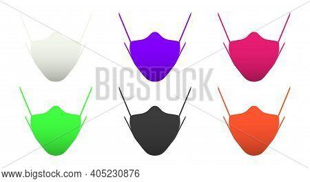 Multicolored Medical Masks. 3d Cartoon Vector Illustration.