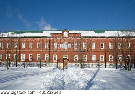 The Hospice Of The Holy Trinity Sergius Lavra. The City Of Sergiev Posad, Moscow Region. The Golden