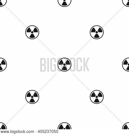 Seamless Pattern With Radiation Sign. Toxic Or Poisonous Background. Danger Sign. Toxic Place, Atmos
