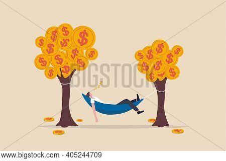 Passive Income, Earning With No Effort By Make Profit Or Dividend From Investment And Achieve Financ