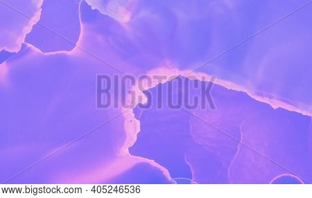 Graphic Fluid Template. Blue Watercolor Modern Canvas. Neon Oil Pattern. Purple Graphic Flow Templat