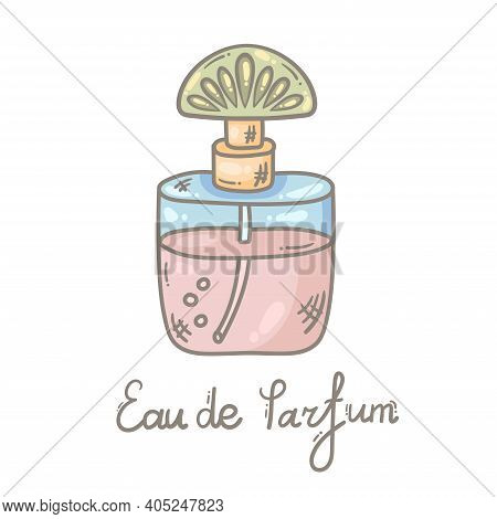 Parfume Glamour Bottle Colorful C Vector Icon