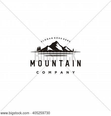 Snow Mountain, Mount Peak Hill Nature Landscape View Logo Design