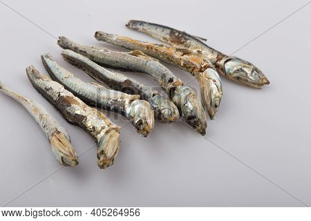 Dried Broth Anchovies Used In Korean Cuisine.