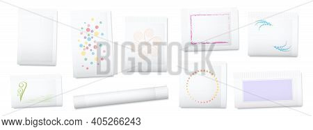 Blank Paper Sachets For Sugar, Salt, Tea, Seeds, Cosmetics, Spices, Powder, Food Ingredients Etc. Un