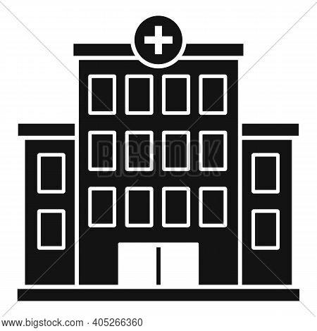 Hospital Building Icon. Simple Illustration Of Hospital Building Vector Icon For Web Design Isolated