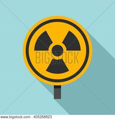 Biohazard Radioactive Icon. Flat Illustration Of Biohazard Radioactive Vector Icon For Web Design