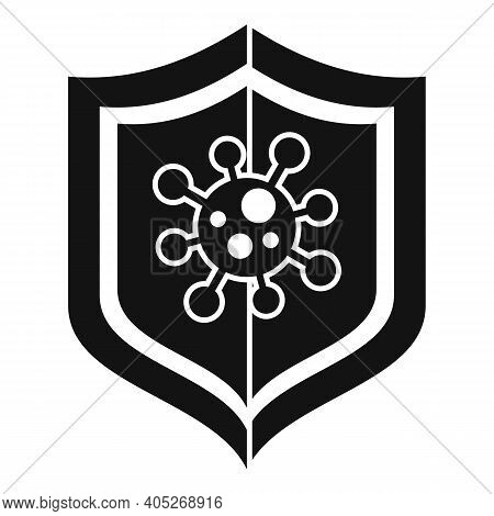 Biohazard Shield Icon. Simple Illustration Of Biohazard Shield Vector Icon For Web Design Isolated O