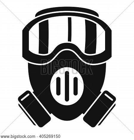 Modern Biohazard Mask Icon. Simple Illustration Of Modern Biohazard Mask Vector Icon For Web Design