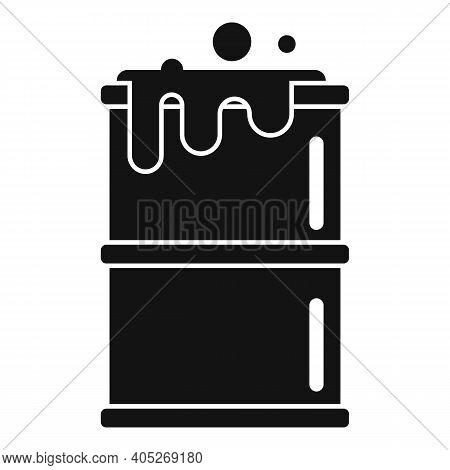 Biohazard Barrel Icon. Simple Illustration Of Biohazard Barrel Vector Icon For Web Design Isolated O