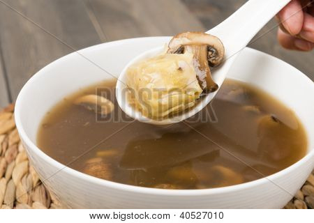Chinese Hot and Sour Dumpling Soup