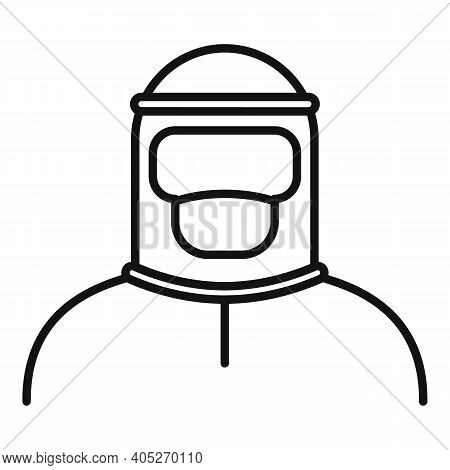 Biohazard Costume Icon. Outline Biohazard Costume Vector Icon For Web Design Isolated On White Backg