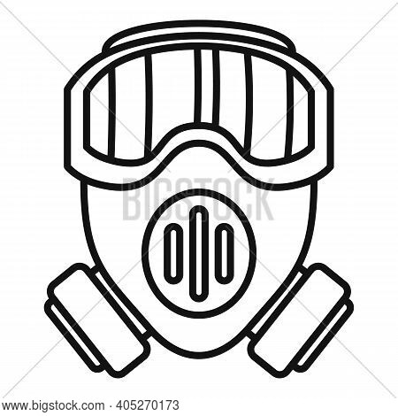 Modern Biohazard Mask Icon. Outline Modern Biohazard Mask Vector Icon For Web Design Isolated On Whi