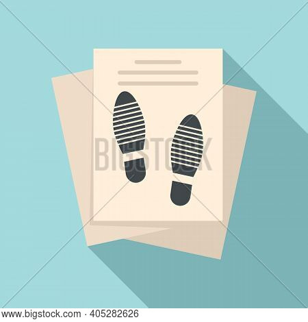 Investigator Papers Icon. Flat Illustration Of Investigator Papers Vector Icon For Web Design