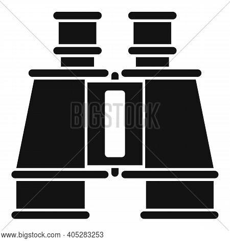 Investigator Binoculars Icon. Simple Illustration Of Investigator Binoculars Vector Icon For Web Des