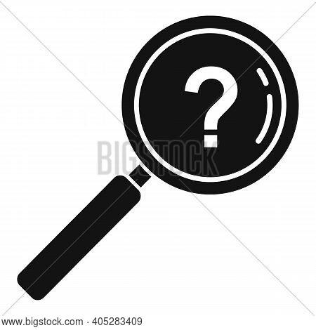 Investigator Question Magnifier Icon. Simple Illustration Of Investigator Question Magnifier Vector