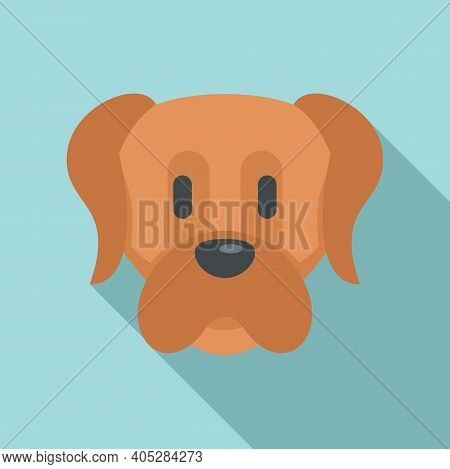 Dog Puppy Icon. Flat Illustration Of Dog Puppy Vector Icon For Web Design