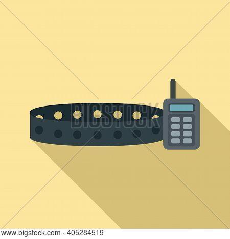 Dog Gps Belt Icon. Flat Illustration Of Dog Gps Belt Vector Icon For Web Design