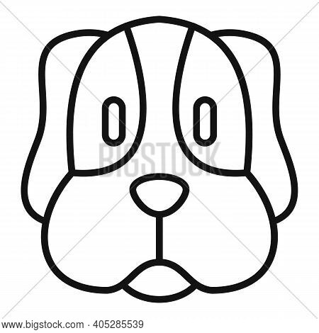 Dog Head Icon. Outline Dog Head Vector Icon For Web Design Isolated On White Background