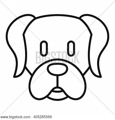 Dog Puppy Icon. Outline Dog Puppy Vector Icon For Web Design Isolated On White Background