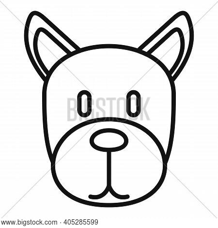 Dog Home Puppy Icon. Outline Dog Home Puppy Vector Icon For Web Design Isolated On White Background