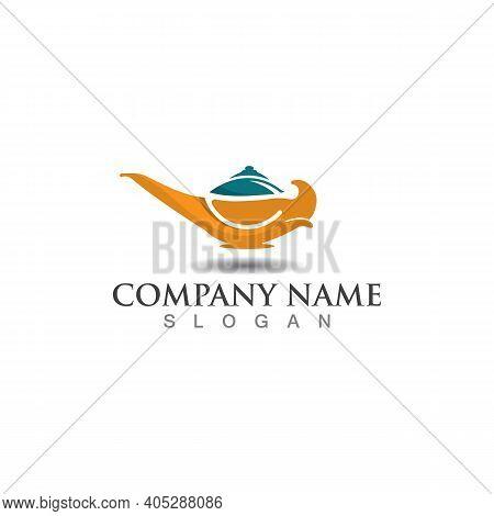 Magic Lamp Logo Icon Creative Business Design Vector Template