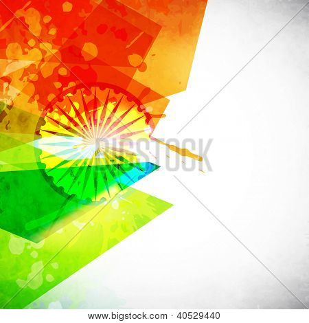Indian Nation Flag colors background with Asoka wheel. EPS 10.