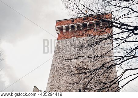 Florian's Gate, Brama Florianska Tower In Krakow City, Poland. Places Of Interest, Attractions For T