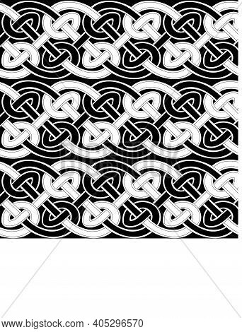 Celtic Traditional Ornament. Seamless Pattern With Geometric Ornament. Ancient Traditions. Vector.