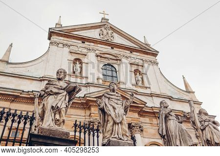 Saint Peter And Paul Church In Krakow, Poland. Krakow Landmarks And Ancient Architecture. Historical