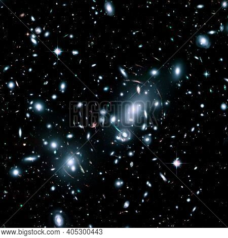 Distant Galaxies, Supernova Core Pulsar Neutron Star.  Elements Of This Image Furnished By Nasa. Ret