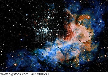 Space Background,supernova Core Pulsar Neutron Star. Elements Of This Image Furnished By Nasa.
